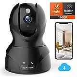 WLAN IP Kamera 1080P, KAMTRON WiFi Überwachungskamera,mit 350°/100°Schwenkbar,Home und Baby...