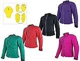 HEYBERRY Damen Soft Shell Jacke Motorradjacke Textil Lila Purple Gr. XXL / 44