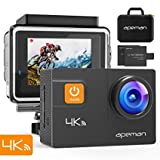 APEMAN A80 Action Cam 4K WiFi 20MP EIS Unterwasserkamera 40M Wasserdicht, mit Transportskoffer und...