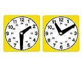 Set mit 10 Lernuhren - Zeitgefühl Kinder Uhr Experimente ablesen experimentieren Uhrzeiten...