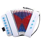 CAHAYA Akkordeon Ziehharmonika Solo und Tasteninstrument für Anfänger Erwachsene und Kinder -Weiss