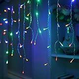 HJ® LED Lichterkette Eisregen mit 200 RGB LEDs 10m Eisregenkette Lichterketten Wasserdicht Strip,...