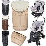 2in1 Winterfußsack (0 bis 36 Monate) für Babyschale / Kinderwagenschale / Kinderwagen / Buggy...