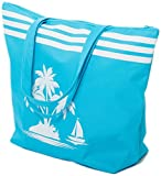 Strandtasche Damen Schultertasche Shopper Sommer TascheVerschluss Reißverschluss Größe 50 x 40 x...
