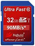 32GB Ultra schnelle 90MB/s Speicherkarte für Kodak PIXPRO AZ252 Camera | Klasse 10 SD SDHC |...