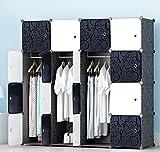 PREMAG Kunststoff Kleiderschrank Garderobe für hängende Kleidung, Kombischrank, modularer Schrank...