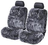 2er Set Lammfell-Sitzbezug anthrazit -kein Patchwork- Vollbezug mit ABE Torrex 39757...