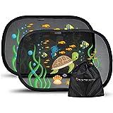 Systemoto Auto Sonnenschutz Baby mit Zertifiziertem UV Schutz (2er Set) - Selbsthaftende...
