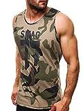 OZONEE Herren Tanktop Tank Top Tankshirt T-Shirt mit Print Unterhemden Ärmellos Weste Muskelshirt...