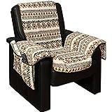 Sesselschoner Sesselüberwurf Sesselauflage Sesselbezug Polster kuschelweich in Lammflor-Optik - mit...