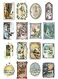 Papier fur Scrapbooking und Decoupage (10 blatt 20x30cm) Weihnachten Winterlandschaften FLONZ...