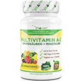 Multivitamin A-Z - 120 Tabletten - 32 Vitamine, Mineralien, Aminosäuren, Spurenelementen...