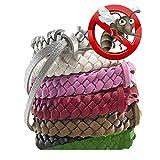Mückenschutz-Armbänder, Stilvolle Leder-Bänder, langanhaltender Schutz gegen Mücken und...