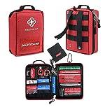 Airsson Erste Hilfe Ausrüstung Set - Erste Hilfe Tasche Mit Inhalt Molle Gürtel Für Reise Wandern...