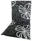 beo Gartenstuhlauflagen Saumauflage für Niederlehner, circa 98 x 48 x 6 cm, schwarz mit weißen...
