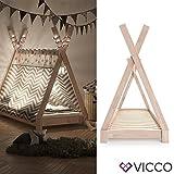 Vicco Kinderbett Tipi Kinderhaus Indianer Zelt Bett Kinder Holz Haus Schlafen Spielbett Hausbett...