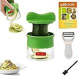 Spiralschneider Gemüse Hand für Gemüsespaghetti- Well Buy Zucchini Spiralizer 3-Klingen Gemüse...