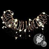 50er Mini LED Lichterkette warm weiß Trafo Timer Weihnachtsdekoration Weihnachtsbaumkette...