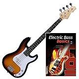 Rocktile Punsher E-Bass Sunburst SET+ Noten + CD