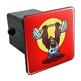 Gym Beast mit Gewichten Gewichtheben Krafttraining Tow Anhängevorrichtung Cover Plug Einsatz...