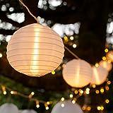 10er LED Lampion Lichterkette warmweiß koppelbar Strombetrieb Lights4fun