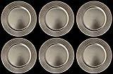 6Platzteller rund Optik Nieten Silber 33cm WEIHNACHTEN WEIHNACHTEN DEKORATION Tisch