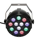 Lixada DMX-512 RGB LED Disco Beleuchtung Strobe Lampen 8 Kanal 15W AC 90-240V