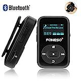 Bluetooth MP3 Player, Foneso 8GB Mini Sport MP3 mit Clip, 30 Stunden Musik Wiedergabe, Unterstützt...