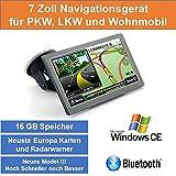 17,8cm 7' Zoll,16GB Speicher, PKW,LKW,Wohnmobil,GPS Navigationsgerät,Navigation, Neuste Karten...