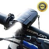 LED Fahrradbeleuchtung  USB Wiederaufladbar Fahrradlicht Fahrrad Frontlicht Wasserdicht tragbar...