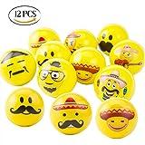 Mengger Stressball zum kneten Emoji Squeezy Bälle Smiley Antistressball Stresserleichterung für...