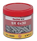 Fischer 531030 Spreizdübel SX 6 x 30 Dose, 200 Stück