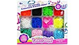 BUSDUGA 700203 - Loom Bänder Set & Clips, 4.200 Stück, mit fluoreszierenden Neonfarben!