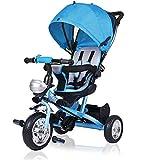 Dreirad Kinderdreirad Kinder Fahrrad Rad Baby Kleinkinder ✔klappbares Sonnendach ✔Elternlenkung...