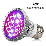 Sumchimamzuk Vollspektrum Pflanzenlampe LED Wachstumslampe mit 20W 40 LEDs Pflanzenleuchte...