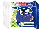 Tempo Feuchte Toilettentücher sanft & sensitiv, parfümfreie Feuchttücher mit natürlicher Aloe...