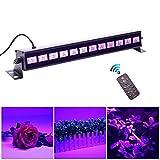 U`King UV Beleuchtung Schwarzlicht 12LEDs x 3Watt UV LED Bar Bühnenbeleuchtung mit Fernbedienung...