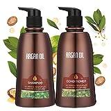 Skymore Arganöl Haarpflege Set, Shampoo + Conditioner (2x350ml), Haarwachstum Beschleunigen, Haar...