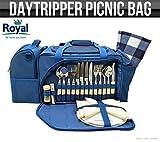 Royal Daytripper Picknick-Set und Kühltasche, inklusive Tellern, Besteck und Decke