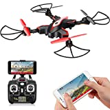 Drohne mit Kamera FPV Faltbar RC Drone SYMA X56W Fernbedienung Quadcopter APP Steuerung live Video...