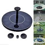 asdomo Solar Power Vogeltränke Brunnen Wasser schwimmende Pumpe Brunnen für Vogel Bad, Aquarium,...