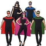 Superheldenumhang & Maske Superheld Kostüm rot Superman Umhang und Augenmaske Helden Kostüm...