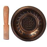 CAHAYA Tibetische Klangschale 9,5cm. Klangschalen Set mit Klöppel