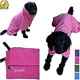 Mikrofaser Hunde Bademantel von Premium Qualität von Arcadian. Diese luxuriösen Bademäntel sind...