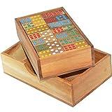 Domino mit 42 Dominosteinen - Legespiel - Gesellschaftsspiel aus Holz