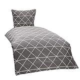 myHomery Bettwäsche 2-teilig Muster modern - Design Bettbezug & Kissenbezug mit Reißverschluss -...