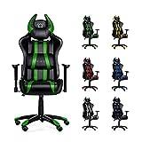 Diablo X-One Horn Gaming Stuhl Bürostuhl in Racing Optik, Kunstlederbezug, mit regulierbaren...