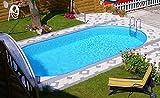 Steinbach Styria Stahlwandpool, oval, Pool only, 737 x 360 x 150 cm, 012375