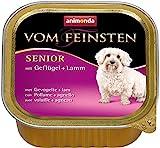 Animonda Feinsten Hundefutter Senior mit Geflügel + Lamm, 22er Pack (22 x 150 g)
