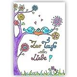 Glückwunsch zur Taufe 'Alles Liebe zur Taufe' Taufkarte, Babykarte, Karte Taufe, Baby, Mädchen,...